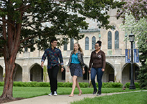 Photo of students walking on campus. Links to Gifts That Pay You Income.
